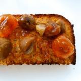 梅甘煮と天津甘栗のトースト