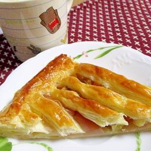 甘露煮の栗も入れたアップルパイ