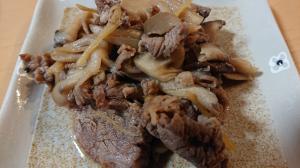 牛肉とキノコの甘辛炒め