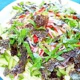 海苔しそ香る☆きゅうりとカニカマの海苔サラダ♪