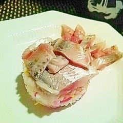 オードブルにメインに、ニシンの菊花寿司