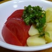 亜麻仁油と黒酢のサラダ