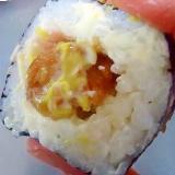 唐揚げ入り 辛子マヨ巻き寿司