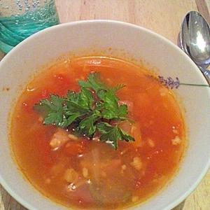 夏こそ温活★トマトと塩麹のスープ