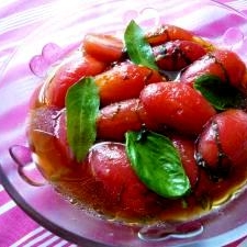 簡単!冷んやり、さっぱり「トマトのポン酢漬け」♪