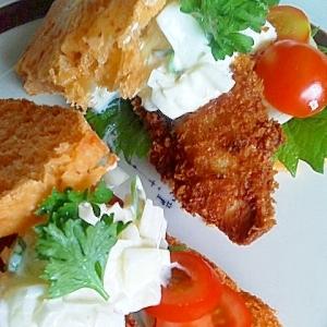 お魚フライサンド(残ったお刺身活用レシピ)