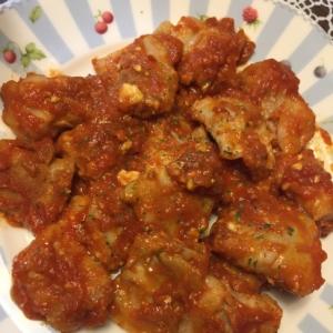 豚肉のチーズ巻〜トマト風味〜
