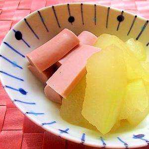 冬瓜と魚肉ソーセージのおでん風煮物