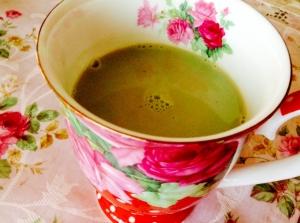 青汁を美味しく❤︎はったい粉ほうじ茶ラテ