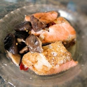 鮭と椎茸の南蛮漬け