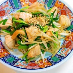 スタミナ満点!鶏肉とニラの野菜炒め
