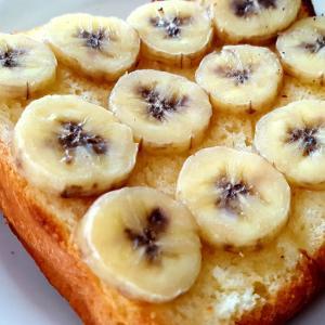 ハニーバターのバナナトースト