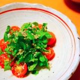 クレソンとトマトのシンプルサラダ