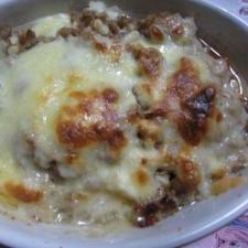 豆腐と肉味噌のグラタン