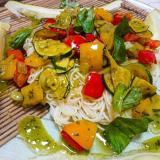 簡単!パプリカとズッキーニのイタリア風夏野菜素麺