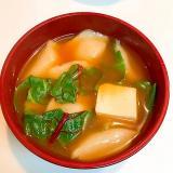 ごろんと餃子を入れて☆ナツナの豆腐チゲ