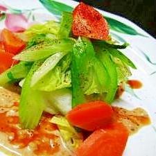 盛り付けにこだわる、温野菜サラダ