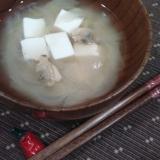 むきアサリと豆腐のお味噌汁♪