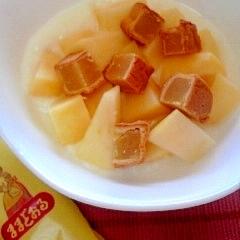 爽やかミルキー☆リンゴとミルクあんヨーグルト♪