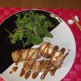 漬け豆腐の豚巻きフライ