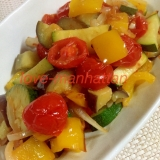 ミニトマトで作る 塩味ラタトゥイユ 夏野菜たっぷり