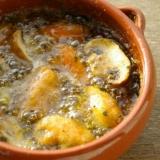ムール貝とマッシュルームのアヒージョ