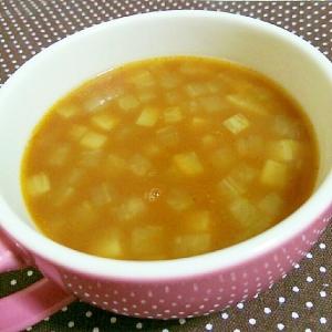 たっぷり大根のカレースープ
