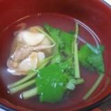 居酒屋の一品 38)ホッキ貝のお吸い物