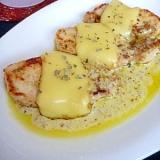塩麹鶏ハムでイタリアン☆バジルチーズチキンソテー