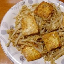 もやしと豆腐の炒め物