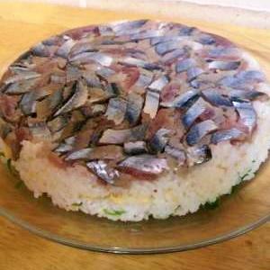秋刀魚のパティー寿司