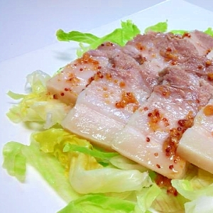 圧力鍋で☆ヘルシーゆで豚のサラダ風
