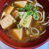 蕎麦入り!豆腐のがっつり赤出汁