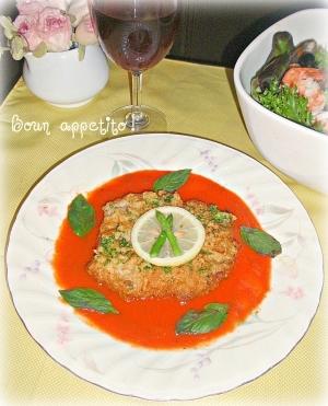 ☆★カットレットのトマトソース添え♪★☆