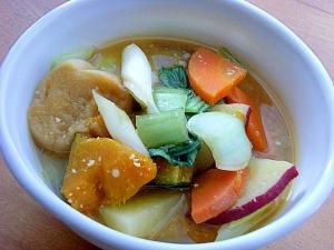 ちんげん菜&根菜の味噌汁♪(ルイボスティー)
