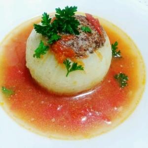 新玉ねぎ☆丸ごとトマトスープ煮☆
