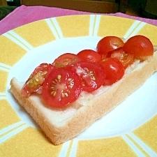 トマト大好き!トマトのオープンサンド