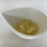離乳食 初期 中期 りんごの甘煮