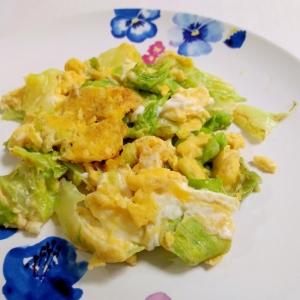 お手軽もう一品☆卵とレタスのマヨ炒め