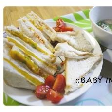 【離乳食後期】3色サンドイッチ