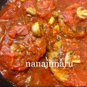 トマト感あふれる☆トマトの煮込みハンバーグ