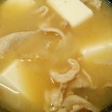 具沢山★大根と豚肉と豆腐のお味噌汁