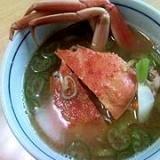 せこ蟹の味噌汁