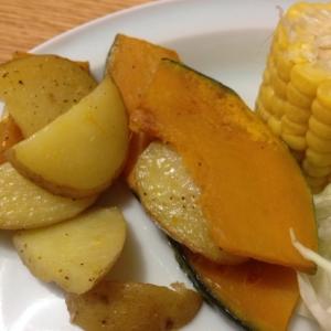 かぼちゃとジャガイモの、ソテー