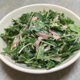 水菜とロースハムの簡単サラダ♪
