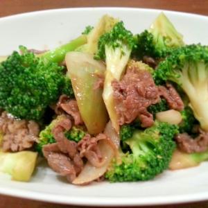 牛肉とブロッコリーの♡オイスタ炒め