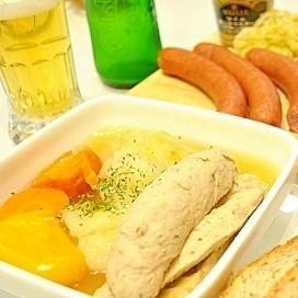 ドイツの白いソーセージ、ヴァイスヴルストのポトフ鍋