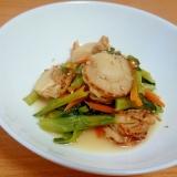 ホタテと小松菜の煮浸し