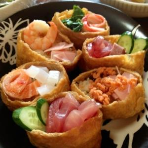 お稲荷さんで散らし寿司((*´∀`*))簡単‼