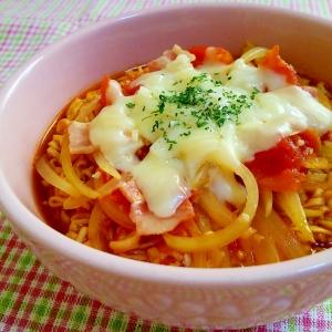 ♡チーズトマト♡チキンラーメン♡